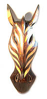 Маска из дерева расписная Зебра