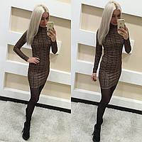 Стильное короткое платье трикотаж
