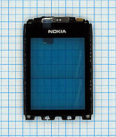 Тачскрин сенсорное стекло для Nokia 300 Asha Original with frame black