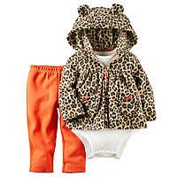 """Carter's детский теплый костюм на девочку """"Леопардовый стиль"""" (18М)"""