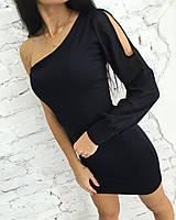 Платье облегающие с одним рукавом
