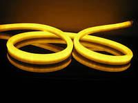 Неон светодиодный Led 220V IP65 желтый (LED Flex Neon) для уличного освещения