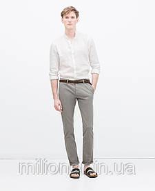 Мужские брюки Zara Chino серые размер 44