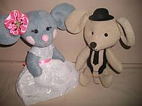 """Текстильные интерьерные игрушки """"Влюбленная пара"""", фото 1"""