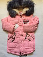 Куртка зимняя для девочки на рост 146 и 152см