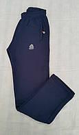 Штаны спортивные синие для мальчиков на байке размеры: 128, 140, 152, 158, 164