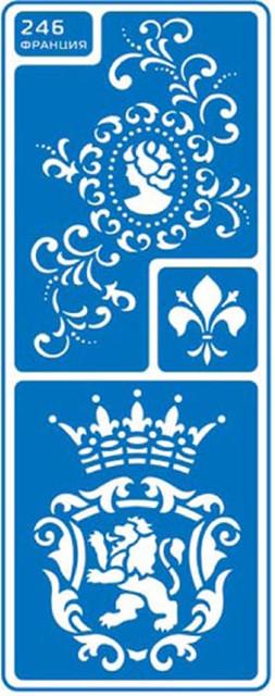 """Трафарет для нанесения рисунка на торт маленький №246 """"Франция"""" (код 02422)"""