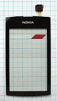 Тачскрин сенсорное стекло для Nokia 305/306 Asha High Copy black