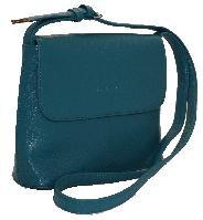 Бирюзовая небольшая сумка через плечо из искусственной кожи