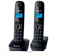 Телефон радио Panasonic KX-TG1612UAH (черный/серый) + доп. трубка / АОН+ Caller ID, тел книга 50 ном