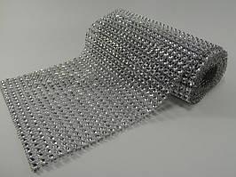 Лента декоративная для тортов серебро
