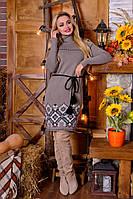 Платье вязаное Иванна (5 цветов), вязанное платье, теплое платье, дропшиппинг украина, фото 1