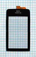 Тачскрин сенсорное стекло для Nokia 308 / 309 / 310 Asha High Copy black