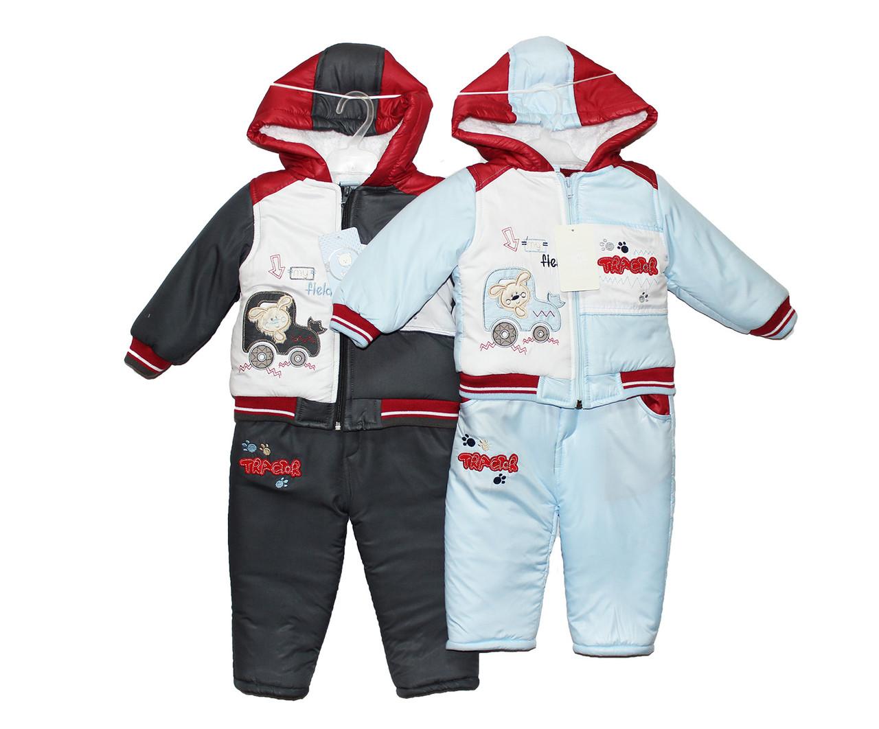 Комбинезон детский зимний для мальчика Picomini 1462