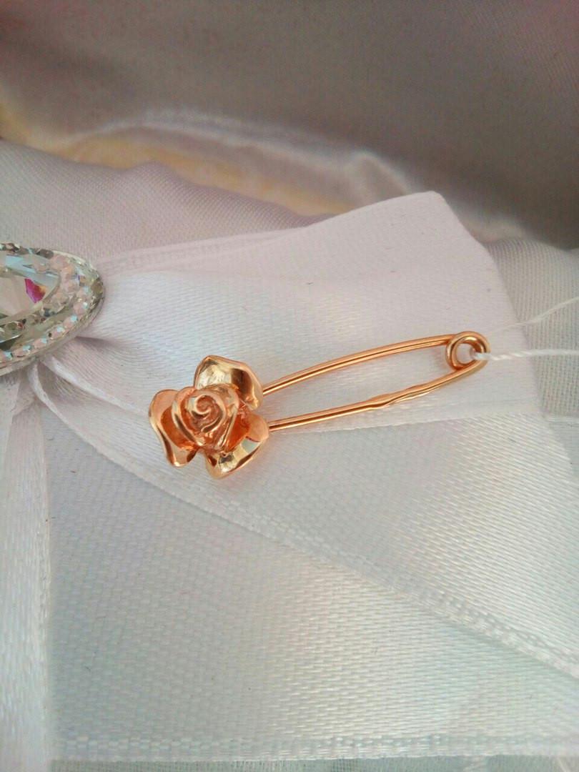 Золотая булавка Роза - Ukr-Gold в Одессе