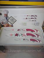 Набор ножей с керамическим покрытием 3шт, фото 1