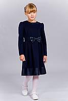 Темно-синее платье для девочки
