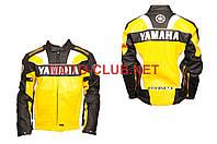 "Мотокуртка кожзам   ""YMH""   (size:L, желтая)"