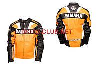 """Мотокуртка кожзам   """"YMH""""   (size:L, оранжевая)"""
