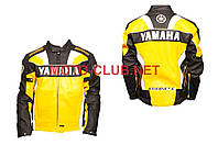 "Мотокуртка кожзам   ""YMH""   (size:XXL, желтая)"