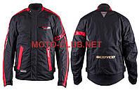 """Мотокуртка текстиль   """"SCOYCO""""   (size:L, черно-красная, mod:JK34)"""