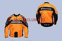 Мотокуртка текстиль (mod:Honda, size:XL, оранжево-черная)