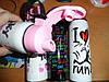 Бутылка для напитков  Принт  herevin ,500 мл (розовая,красная,фиолетовая), фото 3