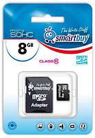 Карта памяти SD-micro 8Gb SmartBuy Class10 SD адаптер (SB8GBSDCL10-01)