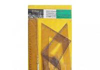 Набор линеек 107 желтый