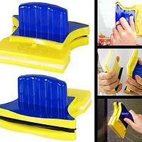 Магнитная щетка для двустороннего мытья окон Глэсс Вайпер, щетка для мытья окон с двух сторон Glass Wiper, фото 1