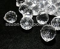 Кристаллы для декора с отверстиями. 32х29мм Цена за 5 шт.