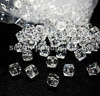 Кристаллы для декора с отверстиями. 10х10мм Цена за 25 шт.