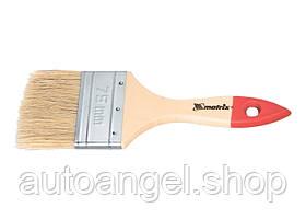 """Кисть плоская """"Стандарт"""" 3/4 """", натуральная щетина, деревянная ручка MTX 825159"""