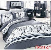 Комплект постельного белья евро сатин  Altinbasak Rixos gri
