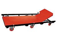 Лежак ремонтний на 6-ти колесах, 1030 х 440 х 120 мм, підголівник, що піднімається MTX