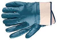 Рукавички робочі з трикотажу з нітрилові обливом, крага, L СІБРТЕХ СИБРТЕХ 67759