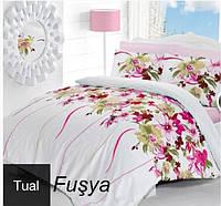Комплект постельного белья евро сатин  Altinbasak Tual Fusya
