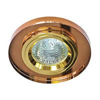 Светильник точечный Feron 8060-2 MR16 коричневый золото