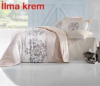 Комплект постельного белья евро сатин  Altinbasak ilma krem