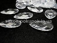 Кристаллы для декора с отверстиями. 60х35мм Цена за 5 шт.