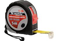 Рулетка Continuous fixation, 3 м х 16 мм, прогумований корпус, плавна фіксація MTX 310869