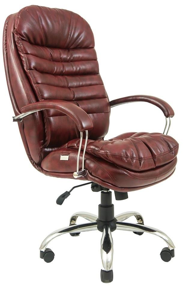 Кресло Валенсия Хром Титан Бордо (Richman ТМ)