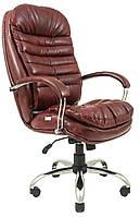 Кресло Валенсия Хром Мадрас Бордо (Richman ТМ)
