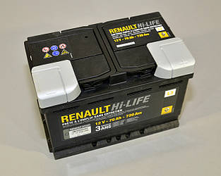 Аккумулятор L3 70AH на Renault Kangoo II — Renault (оригинал) - 7711238598