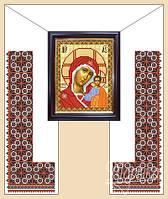 Тканина з малюнком для вишивання рушників бісером
