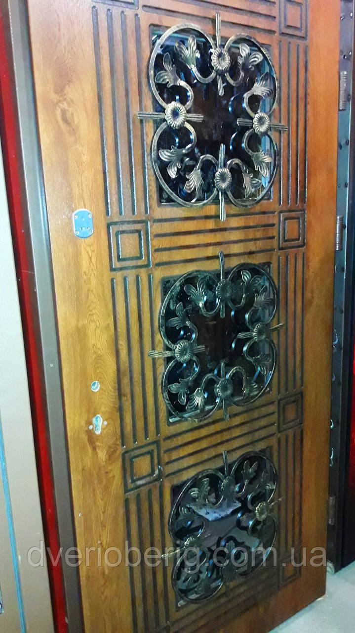 Входная дверь модель Т-1-3 345 vinorit-77 +ПАТИНА