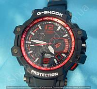 Часы Casio G-Shock GPW 1000 (114395) мужские черные с красным водонепроницаемые противоударные с подсветкой
