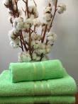 Махровое полотенце 70Х140  Светло-зеленое 400