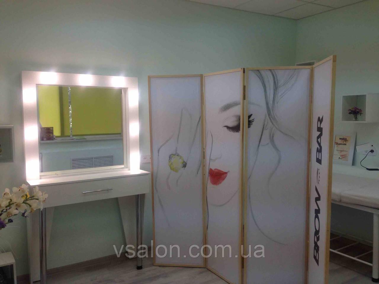 Белый стол для макияжа с подсветкой А30