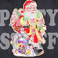 Новогодние товары Украшение на окна Дед Мороз 70х55 см